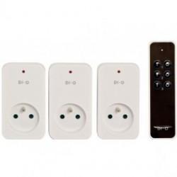 DIO Telecomando a 3 canali e 3 moduli presi ON/OFF 1500W