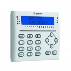 LCD keypad T-WHITE BENTEL with badge reader