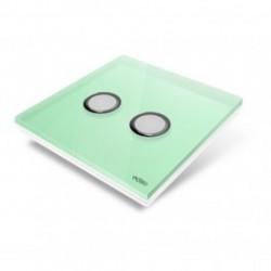 EDISIO de la cubierta de la Placa de la Luz del Diamante Verde 2 llaves