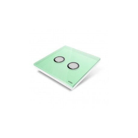 EDISIO - Plaque de recouvrement Diamond - Vert Clair 2 touches