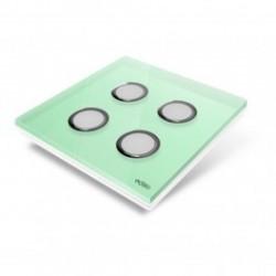 EDISIO de la cubierta de la Placa de la Luz del Diamante Verde 4 teclas