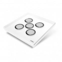 EDISIO - Plaque de recouvrement Diamond - Blanc 5 touches