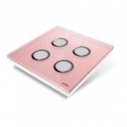 EDISIO de la cubierta de la Placa de Diamante de color Rosa-4 teclas