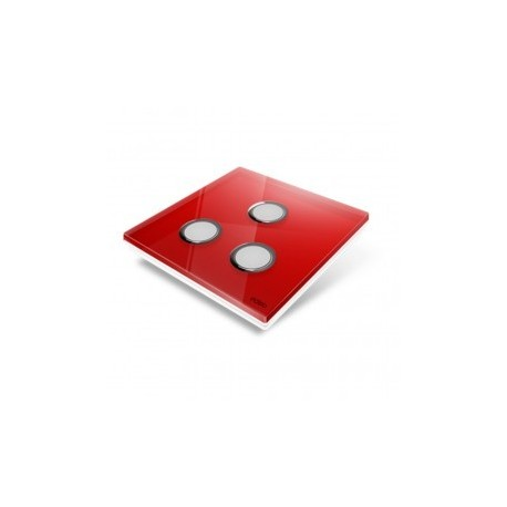 EDISIO - abdeckplatte-Diamond - Rot-3-tasten