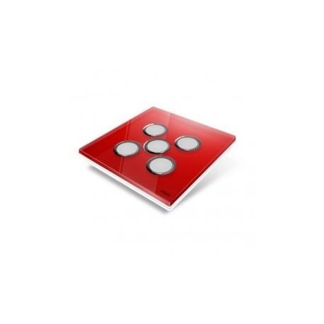 EDISIO - abdeckplatte-Diamond - Rot-5 tasten