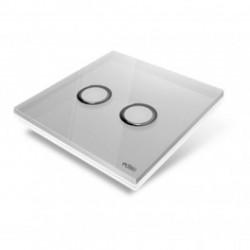 EDISIO - abdeckplatte Diamond - Grau 2 tasten