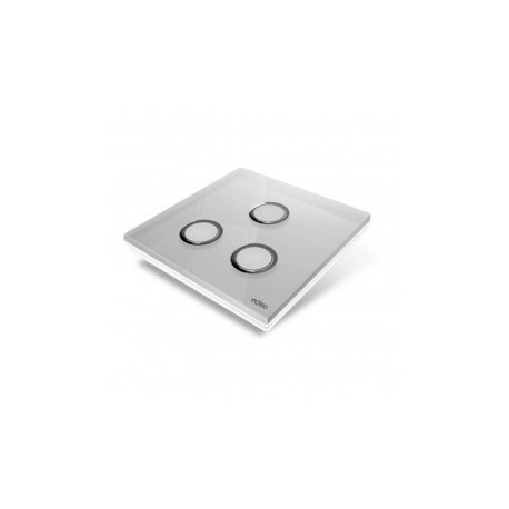 EDISIO - Plaque de recouvrement Diamond - Gris 3 touches