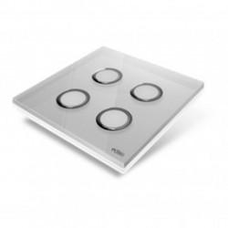 EDISIO - cover Plate, Diamond - Grey, 4 keys