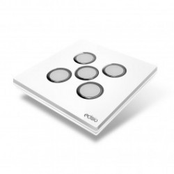 EDISIO - Switch Elegance White 5 Keys White Base