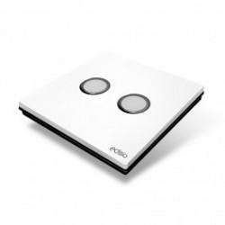 EDISIO - Switch Elegance White 2 Keys black Base