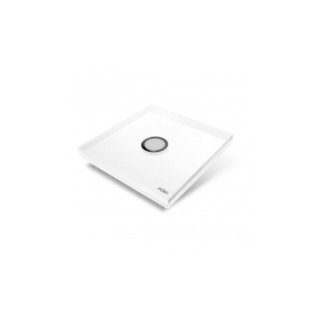 EDISIO - Schalter Diamond weiß 1-Taste, weiße Basis