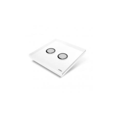 EDISIO - Schalter Diamond weiss 2-Tasten-weiße Basis