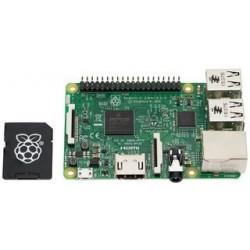 FRAMBUESA PI3 - Raspberry Pi 3 Modelo B con tarjeta micro SD de hasta 16 Gb