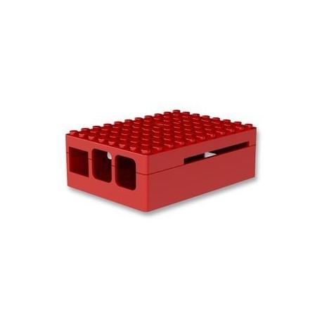 RASPBERRY PI3 - Gehäuse, Pi-Blox für Raspberry Pi Modelle B+, 2-und 3 B-Modelle, ABS, Rot
