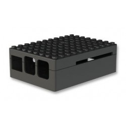 RASPBERRY PI3 - Case Pi Blox for Raspberry Pi Models B+, 2, and 3 Models B, ABS, Black