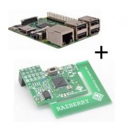 Lampone Lampone Pi3 B Modello (WiFi e Bluetooth) con adattatore Z-wave Più