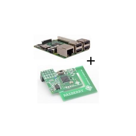 Lampone Raspberry Pi 3 Modello B (WiFi e Bluetooth) con adattatore z-wave.mi