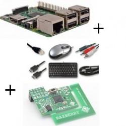 Raspberry - Raspberry Pi 3 Modèle B (WiFi et Bluetooth) avec carte z-wave.me et câble