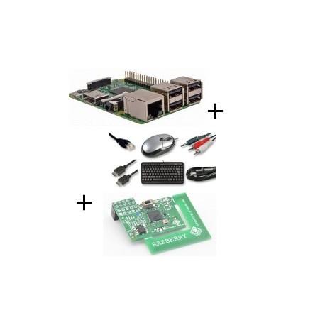 Raspberry pi - Raspberry Pi 3 Model B (WiFi und Bluetooth) - karte mit z-wave.mich und kabel