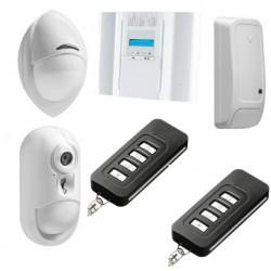 DSC Wireless Premium - Pack di allarme IP connesso con il rivelatore fotocamera PowerG