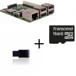 Raspberry PI3 Jeedom - Raspberry Pi3 with Z-wave controller card SD 16gb