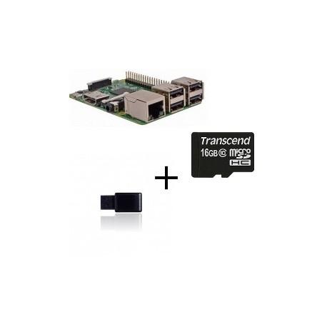 Frambuesa PI3 Jeedom - Frambuesa Pi3 con controlador Z-wave de la tarjeta SD de 16 gb