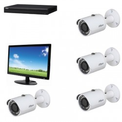 Lilin - Pack vidéosurveillance analogique HD 1080P avec moniteur