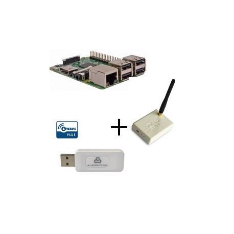 Raspberry PI 3 Model B - Contrôleur Z-wave Plus Everspring SA413 et Rfxcom