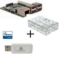 Raspberry PI3 boitier transparent contrôleur Z-Wave Plus Everspring SA413