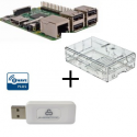 Raspberry PI 3 case with transparent Z-Wave controller More Everspring SA413