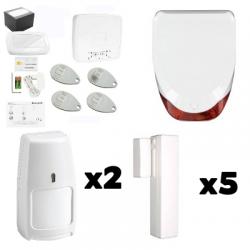Pack Alarme maison LE SUCRE - Pack Honeywell pour maison Type F6 / F7 avec immunité aux animaux