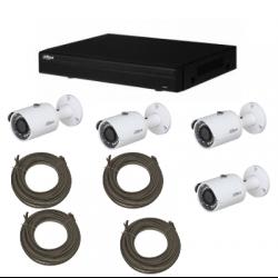 Pack de video vigilancia IP DAHUA 4 cámaras de 2MP