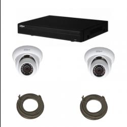 Pack vidéosurveillance DAHUA IP 1 Mégapixel 2 caméras dômes