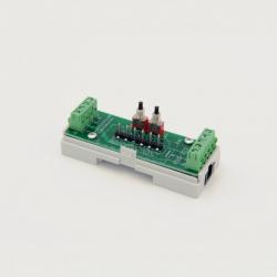 EUTONOMY S223 - Adattatore euFIX DIN per Fibaro FGS-223 con pulsanti
