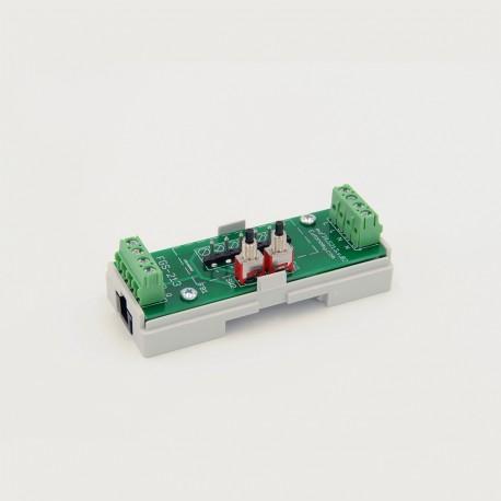 EUTONOMY S213 - Adaptador de euFIX DIN para Fibaro FGS-213 con botones