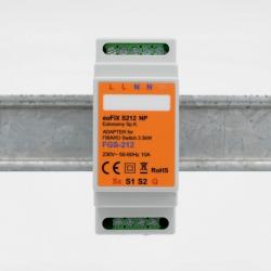 EUTONOMY - Adattatore euFIX DIN per Fibaro FGS-212 senza pulsanti