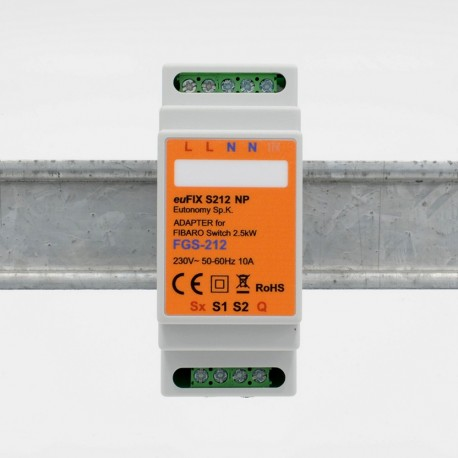 EUTONOMY - Adapter euFIX DIN Fibaro FGS-212, ohne knöpfe zu drücken
