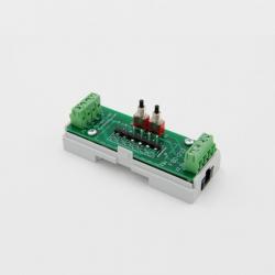 EUTONOMY D212 - Adattatore euFIX su guida DIN modulo Fibaro FGD-212 con pulsanti