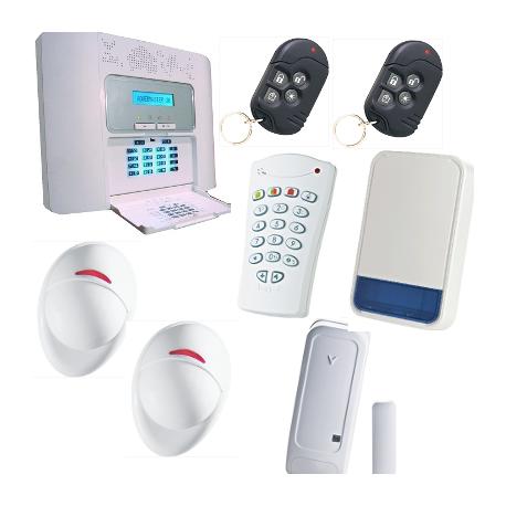 PowerMaster30 - Pack de alarma de la casa F1 / F2 con sirena al aire libre PowerMaster Visonic