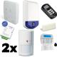 Pack di allarme DSC ALEXOR - custodia tipo F2 con GSM