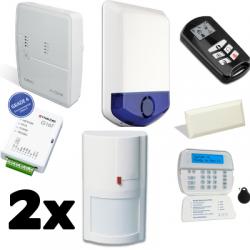 Pack de alarma DSC ALEXOR - vivienda tipo F2 con GSM