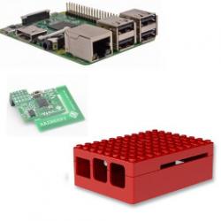 Raspberry Pi-3-karte, Z-wave Plus-box Lego rot