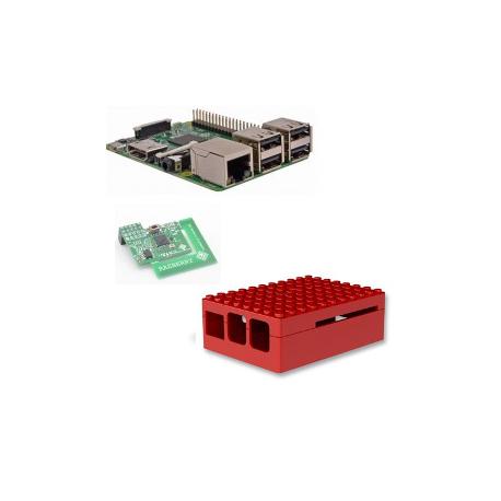 Raspberry - Raspberry Pi 3 Modèle B (WiFi et Bluetooth) avec carte z-wave.me,boitier Lego noir
