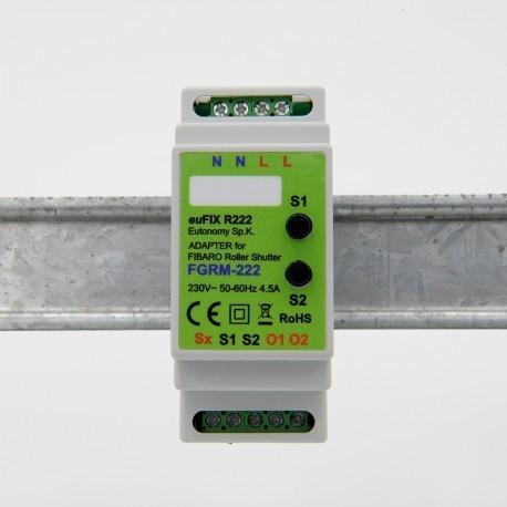 EUTONOMY R222 - Adapter euFIX DIN-SCHIENEN-modul Fibaro FGR-222 mit knöpfen