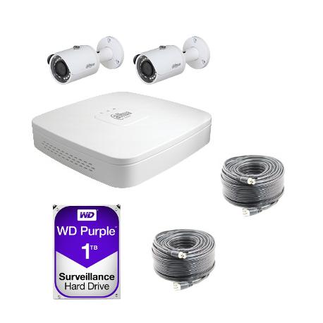 Kit vidéosurveillance Dahua AHD 720P 2 caméras