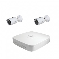 Dahua Kit video surveillance 2 cameras 4 Megapixels