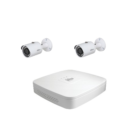 Dahua Kit de video vigilancia 2 4 cámaras Megapíxeles
