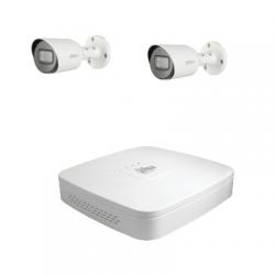 Dahua Kit di videosorveglianza con 2 telecamere HD-CVI 2 Megapixel