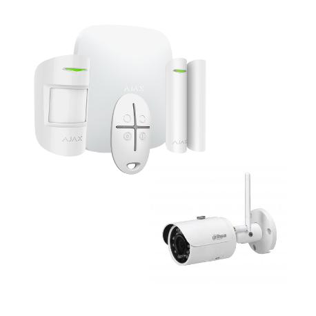 Alarm Ajax Starter Kit, HUB More - wireless Alarm with IP camera 4 Megapixel