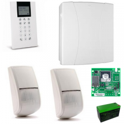 Risco LightSYS 2 - Pack central de alarma con cable IP + teclado+ 2 sensores + batería